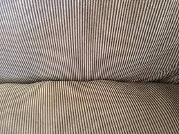sure fit rn 15288 brown ribbed sofa couch 2 piece t cushion
