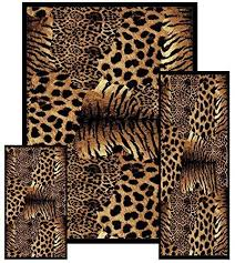 animal print area rugs amazon com