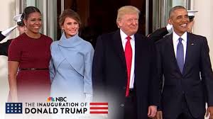the obama s the obamas welcome the trumps at the white house nbc news youtube