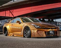gold nissan car one million dollar gold plated car nissan gt r x auto news