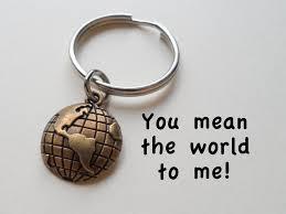 bronze anniversary gifts bronze world globe keychain jewelryeveryday
