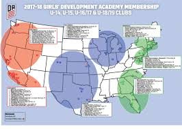 Map Of Northwest Florida u s soccer development academy