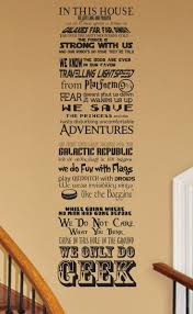 18 best we do geek images on pinterest in this house vinyl wall in this house we do geek customizable vinyl wall decal fantasy star wars harry potter hobbit