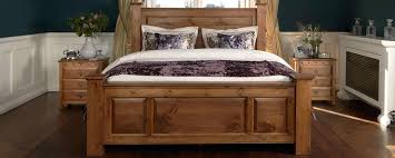 Oak Bed Frame Handcrafted Solid Wood Beds Up To 8ft Wide Revival Pine Bunke With