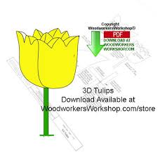 05 wp 175 3d tulips downloadable scrollsaw woodworking patterns