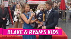 blake lively and ryan reynolds u0027 children make public debut youtube