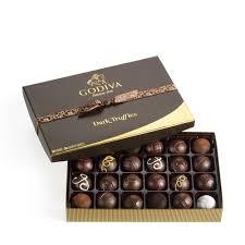 double chocolate raspberry truffle chocolate flavors godiva
