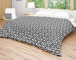 Geometric Coverlet Geometric Duvet Grey Black Bedding Patterned Bed Cover 3d