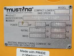 mustang manufacturing company inc mustang 2044 sale in wisconsin 156956
