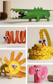 Animal Toilet Paper Holder by 10 Manualidades Para Recortar Con Niños Animal Crafts Toilet