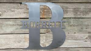 last name monogram monogram metal wall decor last name monograms door hanger letters