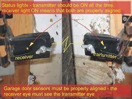 Overhead Garage Door Troubleshooting Garage Door Sensors Overhead Door Opener Sensor Troubleshooting