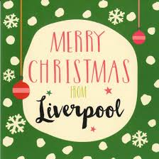 shop christmas cards green merry christmas from liverpool card