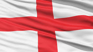 the waving flag of england with the st george cross emblem