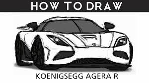 koenigsegg agera rs white how to draw a koenigsegg agera r step by step drawingpat youtube