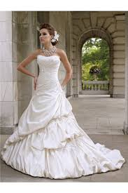 draped wedding dress gown strapless up satin draped wedding dress with appliques