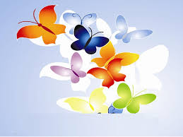 butterfly multi color templates for powerpoint presentations