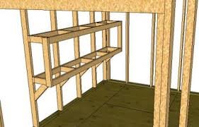 Building Wood Shelves 2x4 by How To Build Storage Shed Shelves