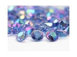 gems for table decorations 12mm blue 6 5 carats confetti ab coating for table scatter