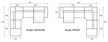 taille canapé angle dimensions canape d angle convertible definition dimension dangle