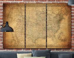 large wall map etsy