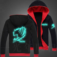 aliexpress com buy autumn men fairy tail glow hoodie hooded