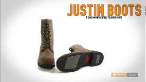 justin boots 8 u201d dark mountain work boots steel toe for men
