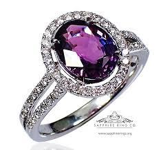 natural gemstones rings images 2 58 ct purple sapphire diamond ring 14kt oval cut jpg