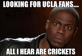 Ucla Memes - looking for ucla fans all i hear are crickets meme kevin hart