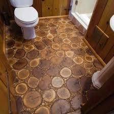 diy bathroom floor ideas floor made out of slices of wood from your own garden all you
