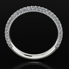 pave 3d models 3d pave pave diamond ring rw0173 3d print model cgtrader
