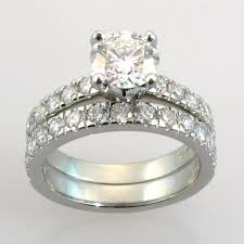 engagement ring and wedding band set wedding wedding settings for diamond rings engagement and band