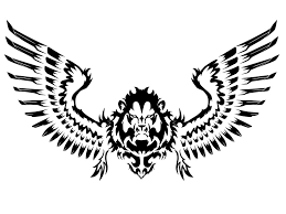 image for tribal lion tattoos with wings ink pinterest