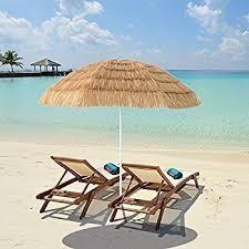 Tiki Patio Furniture by Amazon Com 8 U0027 Hula Umbrella Thatched Tiki Patio Umbrella Natural