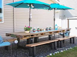Patio Table Decor Outdoor Pallet Table Decor Kleinworth Co