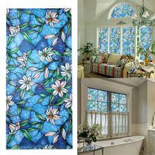 high quality 3d sunscreen window flower stained glass film sticker