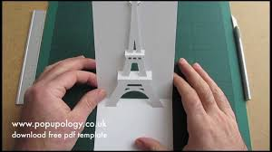 pop up eiffel tower card tutorial origamic architecture youtube