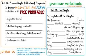 b free printable grammar worksheets c a