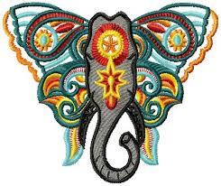 elephant 003 embroidery design