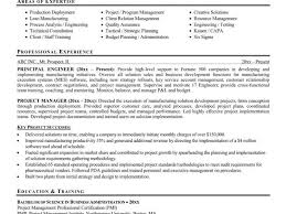 Project Resume Example by Ingenious Inspiration Project Manager Resume Example 12 Format