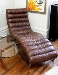 Leather Chaise Lounge Brown Leather Chaise Lounge Chair Foter