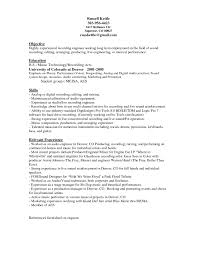 Engineering Resume Sample Awesome Audio Engineer Resume Template Sample With Objective And