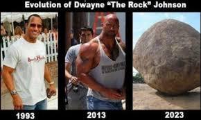Dwayne Johnson Car Meme - evolution of dwayne johnson