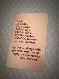 1st anniversary gift for him copper wallet card insert engraved wallet card 1st anniversary