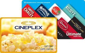 dinner and a gift card cineplex gift cards