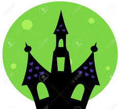 pictures of cartoon haunted houses haunted house silhouette vector cartoon illustration royalty free