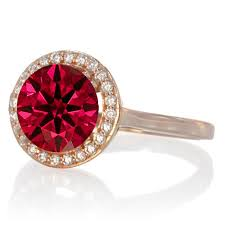 ruby engagement rings 1 25 carat round halo classic diamond and ruby engagement ring on