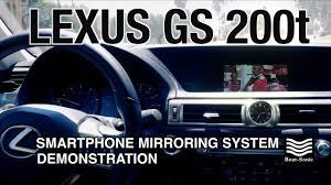 lexus steering wheel logo 2013 2017 lexus gs 200t iphone mirroring system demonstration