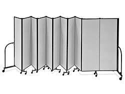 portable room dividers 11 panels h 5863 uline