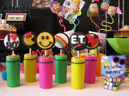 80s party table decorations growing up in the 80 s birthday party 80 s birthdays and 80s theme